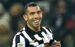 """""""Gã đầu gấu"""" Tevez muốn tiếp tục khoác áo Juventus"""