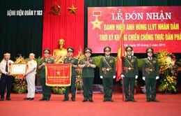 Bệnh viện Quân y 103 đón nhận danh hiệu Anh hùng Lực lượng vũ trang