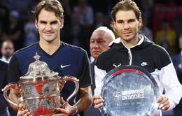 Thắng Nadal sau hơn 3 năm, Federer lần thứ 7 lên ngôi tại Basel Open