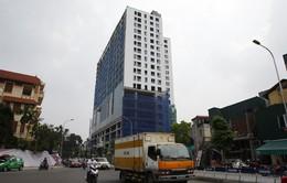Sở Xây dựng Hà Nội yêu cầu phá dỡ phần vi phạm tòa nhà 8B Lê Trực