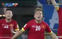 Ghi bàn phút 90+3, Phi Sơn trở thành người hùng của ĐT Việt Nam
