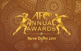 Bóng đá Việt Nam bất ngờ nhận 4 đề cử giải thưởng năm 2015 của AFC