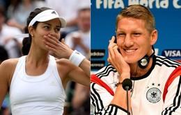 Bạn trai nổi tiếng cổ vũ hết mình cho Ana Ivanovic