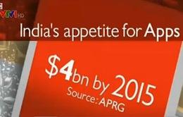 Ứng dụng trênđiện thoại - Mỏ vàng mới của Ấn Độ