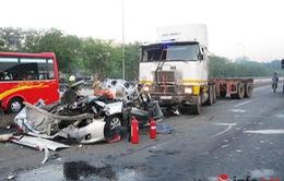 """Vụ xe container """"điên"""": Tài xế trình diện, khai nguyên nhân tai nạn"""