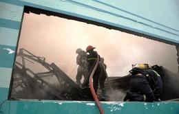 TP.HCM: Cháy lớn thiêu rụi nhà xưởng rộng 3.000m2
