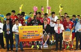 Bangu vô địch BTV Cup 2015 nhờ siêu phẩm ở hiệp phụ