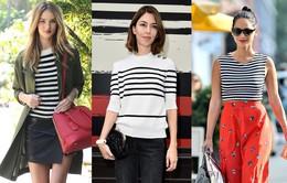Biến hóa phong cách đa dạng với áo thun kẻ ngang