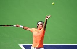 """Indian Wells 2015: """"Thổi bay"""" Berdych, Federer thẳng tiến vào bán kết"""
