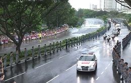 Người Singapore đội mưa tiễn đưa cố Thủ tướng Lý Quang Diệu