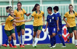 Bóng đá nữ: Australia và Thái Lan vào bán kết giải vô địch Đông Nam Á 2015