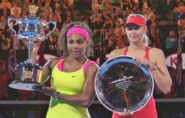 Sharapova công nhận Serena Williams luôn là số 1 thế giới