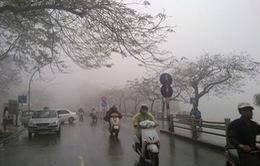 Bắc Bộ mưa nhỏ, nền nhiệt tăng, sương mù dày đặc