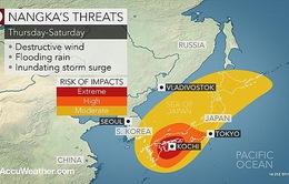 Bão Nangka sắp đổ bộ vào Nhật Bản, hơn 4.000 người sơ tán