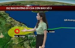Tối 14/9, bão số 3 đổ bộ Quảng Nam - Quảng Ngãi