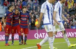 Mess – Suarez – Neymar khai hỏa, Barca hạ đo ván Sociedad