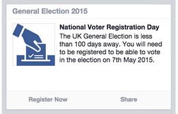 Anh: Facebook khuyến khích người dùng tham gia bầu cử