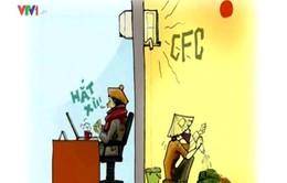 Chủ đề tiết kiệm điện đi vào tranh biếm hoạ