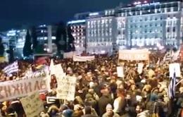 Hy Lạp: Lao động phổ thông biểu tình trước trụ sở Bộ Tài chính