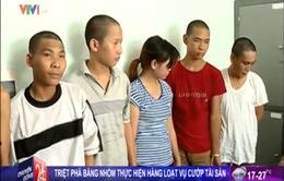 Hà Nội: Triệt phá băng nhóm gây ra hàng loạt vụ cướp tài sản