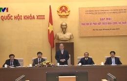 Chủ tịch Quốc hội Nguyễn Sinh Hùng dự Hội nghị phối hợp triển khai công tác năm 2015