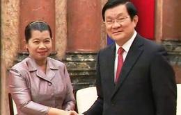 Chủ tịch nước tiếp Phó Thủ tướng Campuchia