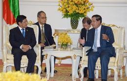 Phó Tổng thống Myanmar hội đàm với Thủ tướng Campuchia