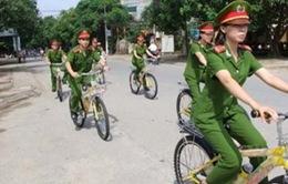 Hà Nội thí điểm Cảnh sát trật tự tuần tra bằng xe đạp