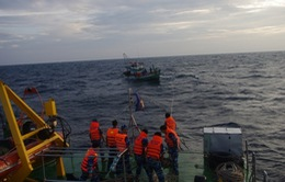 Quảng Bình: Cảnh sát biển cứu 14 thuyền viên trên tàu gặp nạn