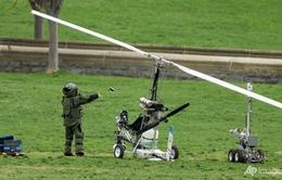 Đáp trực thăng xuống tòa nhàQuốc hội Mỹđể...đưa thư
