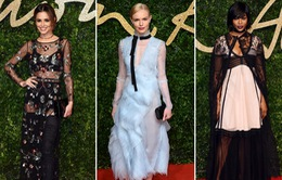 """Những """"thảm họa"""" trên thảm đỏ Lễ trao giải thời trang Anh 2015"""