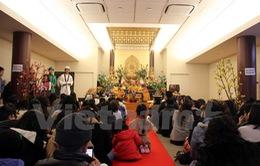 Lễ cầu an của cộng đồng người Việt tại chùa Nisshinkutsu Nhật Bản