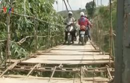 Sơn La: Tử thần rình rập trên cầu treo Hát Lót