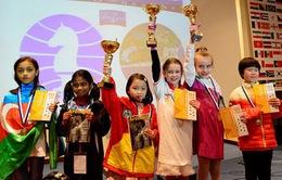 Nguyễn Lê Cẩm Hiền vô địch Giải cờ vua trẻ Thế giới lứa tuổi U8