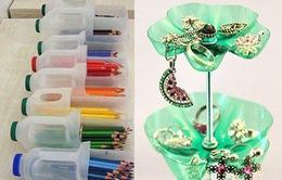Biến tấu vỏ chai nhựa thành các vật dụng hữu ích