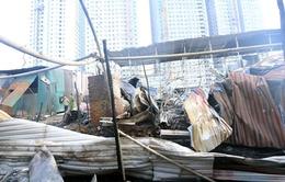 Hà Nội: Cháy lớn tại công trường tổ hợp chung cư Mường Thanh