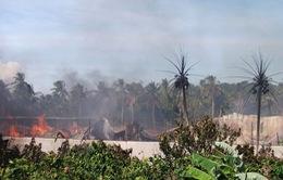 Bến Tre: Cận cảnh vụ cháy tại Công ty May mặc Cây Dừa
