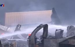 Đã khống chế hoàn toàn vụ cháy lớn tại Khu Công nghiệp Hoàng Gia - Long An