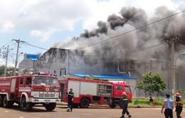 Cháy kho hóa chất trong KCN Suối Tre - Đồng Nai
