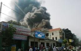 Nghệ An: Cháy lớn tại cửa hàng phụ tùng xe máy