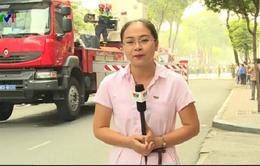 Diễn tập PCCC tại TP.HCM: Sử dụng phương tiện chữa cháy, cứu hộ hiện đại