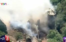 Cháy xưởng gỗ tại Anh, 39 người bị thương