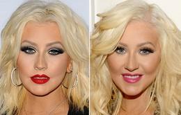 Christina Aguilera gây sốc với khuôn mặt phù nề