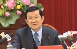 Chủ tịch nước thăm và làm việc tại Yên Bái