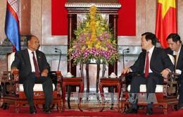 Chủ tịch nước Trương Tấn Sang tiếp Chủ tịch Quốc hội Campuchia