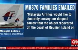 Mảnh vỡ MH370 được tìm thấy, gia đình các nạn nhân bối rối