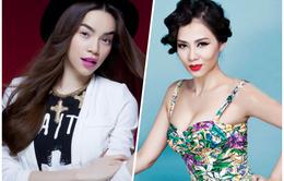 """Hồ Ngọc Hà, Thu Minh """"đọ sắc"""" cùng Hoa hậu Hoàn vũ Việt Nam 2015"""