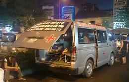 Chặn xe cứu thương đòi tiền tại BV Việt - Đức