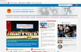 Khai trương Cổng thông tin điện tử Bảo vệ, chăm sóc trẻ em