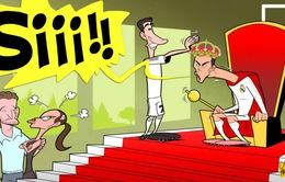 Biếm họa bóng đá: Ronaldo lên ngôi, Irina Shayk tiếc hùi hụi